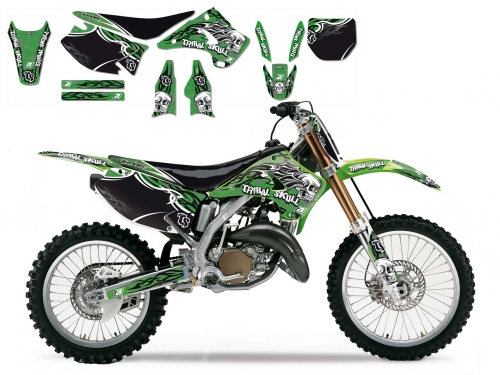 kit deco tribal skull 2 125 250 kx 2003 2008 crossmoto fr 01 09 2017