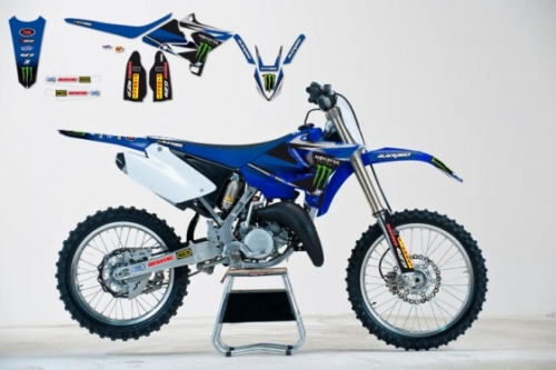 kit deco blackbird replica 125 250 yz 2002 2014 monster energy pour kit plastique replica yz f. Black Bedroom Furniture Sets. Home Design Ideas