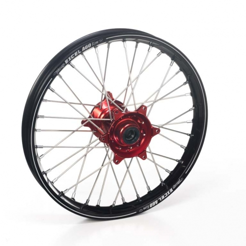 roue arri re compl te haan wheels a60 jante noire moyeu rouge honda 250 cr f 2014 2017. Black Bedroom Furniture Sets. Home Design Ideas