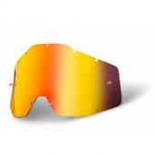 ecran rouge miroir anti-buee 100 % racer accessoires lunettes