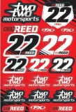 Planche stickers FX Chad REED TwoTwo motorsports   planche auto collants