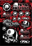 Planche stickers FX Metal Mulisha planche auto collants