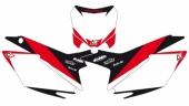 Fonds de plaque Dream Graphic 2 Blackbird blanc Honda 450 CR-F 2013-2016 fond de plaque