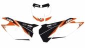 Fonds De Plaque Dream Graphic 2 Blackbird Blanc  250 SX-F 2013-2015 fond de plaque