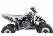 Kit Deco Blackbird Tribal Skull 2 Blanc Suzuki450 LTR 2006-2015 kit deco quad
