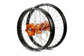ROUES COMPLETES TALON 21/18 MOYEUX ORANGE CERCLE NOIR toute la gamme SX/SXF ET SXS 2015-2016 roues completes