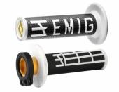 Poignees ODI Lock On V2 Emig Noir Blanc  revetements