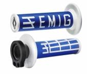 Poignees ODI Lock On V2 Emig Bleu Blanc revetements