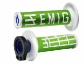 Poignees ODI Lock On V2 Emig Vert Blanc  revetements