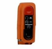 Commodo Électrique Droit Tommaselli Orange Avec Interrupteur commodos