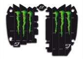 Kit Déco Grille De Radiateur Blackbird Racing Replica Krt Monster Energy 2015 Kawasaki 450 KX-F 2012-2015 kit deco radiateur