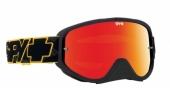 LUNETTES SPY Woot Race jaune/noir écran AFC miroir rouge lunettes