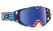 LUNETTES SPY Ace Vintage USA bleu/rouge écran AFC miroir bleu lunettes