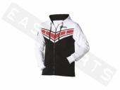 Sweat-shirt zippé à capuche YAMAHA Classic 2016 blanc/ noir Homme paddock yamaha