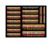 Planche stickers PRO CIRCUIT planche auto collants