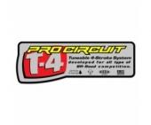 stickers echapement pro circuit T-4 Stickers echappement