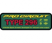 stickers echapement pro circuit TYPE 296 Stickers echappement