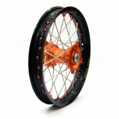 ROUE ARRIERE KITE ELITE JANTE NOIRE MOYEU ORANGE HUSQVARNA 85 TC 2014-2016 roues completes