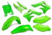 KIT PLASTIQUE CYCRA 6 ELEMENTS VERT FLUO 450 KX-F 2013-2015 kit plastique cycra powerflow
