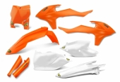 KIT PLASTIQUE CYCRA ORANGE FLUO 125 SX 2016-2017 kit plastique cycra powerflow