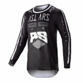 Maillot Cross ALPINESTARS Racer Supermatic BLACK/LIGHT GRAY/WHITE maillots pantalons