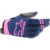 Gants Moto Cross ALPINESTARS Aviator BLUE/CYAN/RED gants