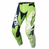 Pantalon ALPINESTARS CROSS Racer Braap TEAL/BLACK/YELLOW FLUO maillot pantalon kids