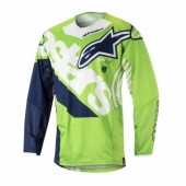 Maillot Cross ALPINESTARS Racer Braap TEAL/BLACK/YELLOW FLUO maillot pantalon kids
