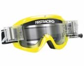 LUNETTE FIRST RACING CHROMATIK JAUNE/FLUO AVEC ROLL OFF lunettes