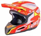 Casque LEATT GPX 5.5 Composite orange/jaune/blanc casques