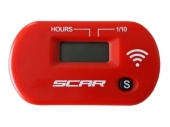 Compteur d'heures SCAR Sans-fil ROUGE compteur heures