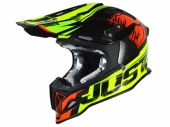 Casque JUST1 J12 Dominator rouge/lime fluo  casques