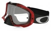 LUNETTE OAKLEY Crowbar Distress Tagline Rouge écran transparent lunettes