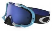 LUNETTE OAKLEY Crowbar Pinned Race Blue/blanc écran Ice Iridium lunettes
