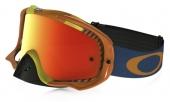 LUNETTE OAKLEY Crowbar Biohazard orange écran Fire Iridium lunettes