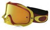 LUNETTE OAKLEY Crowbar Shockwave jaune/Bright Rouge écran 24K Iridium + transparent lunettes