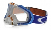 LUNETTE  OAKLEY Mayhem Pro Pinned Race Blue/Orange écran transparent lunettes
