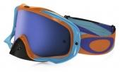LUNETTE  OAKLEY Crowbar Heritage Racer Bright Orange écran Ice Iridium lunettes