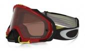 LUNETTE OAKLEY Mayhem Pro Heritage Racer Bright Rouge écran Prizm MX Bronze lunettes
