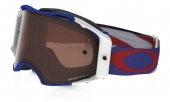 LUNETTE OAKLEY Airbrake Heritage Racer Blue Cobalt/White écran Prizm MX Bronze lunettes