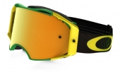 LUNETTE OAKLEY Airbrake Shockwave vert/jaune écran 24k Iridium lunettes