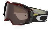 LUNETTE OAKLEY Airbrake Heritage Racer Bright Rouge écran Prizm MX Black Iridium lunettes