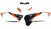 Fonds de plaque Dream Graphic 2 Blackbird blanc KTM 2005-2016 fond de plaque