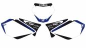 Fonds de plaque Dream Graphic 2 Blackbird blanc Yamaha  125 YZ 2006-2014 fond de plaque