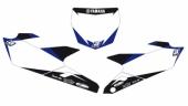 Fonds de plaque Dream Graphic 2 Blackbird blanc Yamaha 125 YZ 2015-2016 fond de plaque