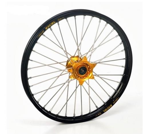 roue avant 19 moyeux hann weels or cercle exel noir kawasaki 80 85 kx grande roue 1997 2016. Black Bedroom Furniture Sets. Home Design Ideas