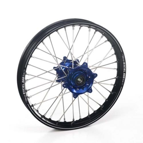 roue arri re compl te haan wheels a60 jante noire moyeu bleu yamaha 250 yz 1999 2017 crossmoto. Black Bedroom Furniture Sets. Home Design Ideas