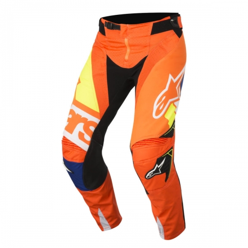pantalon cross alpinestars techstar factory jaune fluo bleu blanc orange fluo 2018 crossmoto. Black Bedroom Furniture Sets. Home Design Ideas