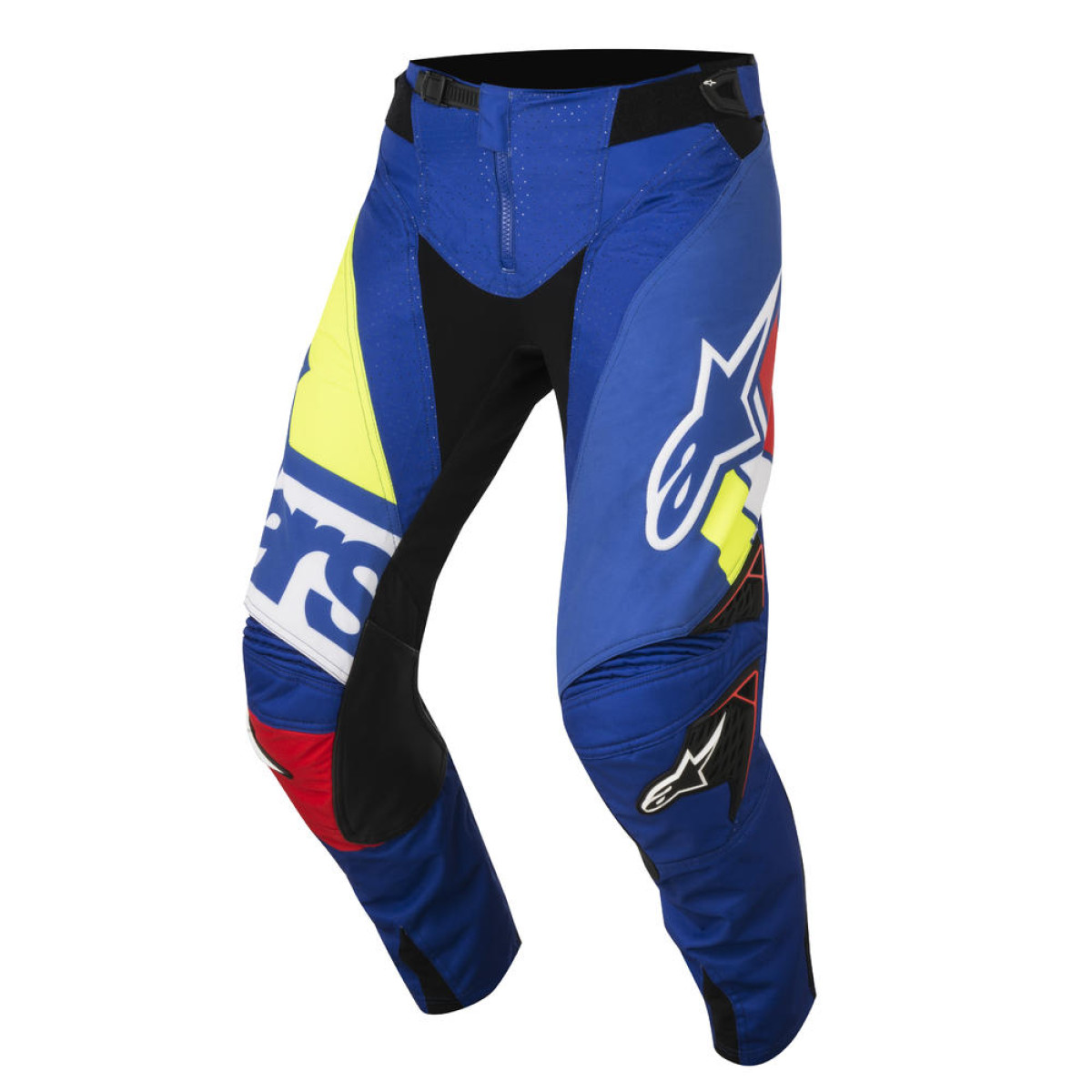 pantalon cross alpinestars techstar factory bleu rouge blanc jaune fluo 2018 crossmoto fr 20. Black Bedroom Furniture Sets. Home Design Ideas