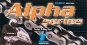 chaine tsubaki  520 mx alpha a joints thoriques  livree avec attache rapide chaine